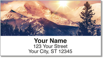 Rocky Mountains Address Labels