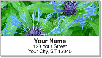 Blue Flower Address Labels