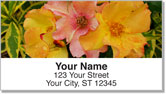 Flower Petal Address Labels