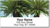 Palm Tree Address Labels