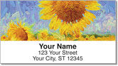 Sunflower Bloom Address Labels