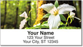 White Trillium Address Labels