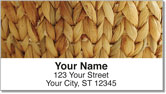 Woven Basket Address Labels