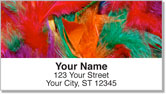 Flashy Feather Address Labels