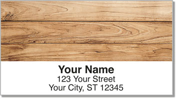 Wood Grain Address Labels