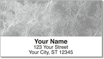 Gray Marble Address Labels