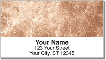 Tan Marble Address Labels