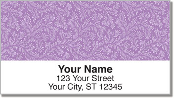 Violet Leaves Address Labels