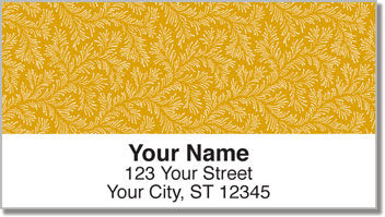 Gold Leaves Address Labels