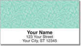 Green Leaves Address Labels