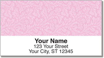 Pink Leaves Address Labels