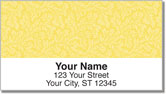 Yellow Leaves Address Labels