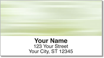 Green Swish Address Labels