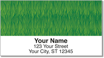Grass Address Labels