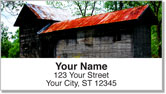 Rustic Building Address Labels