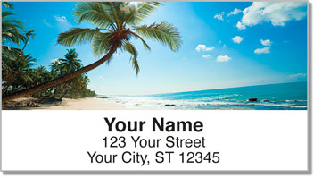 Tropical Coastline Address Labels