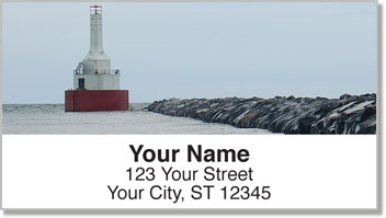 Pier Lighthouse Address Labels