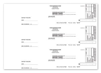 3-On-A-Page Deposit Slips