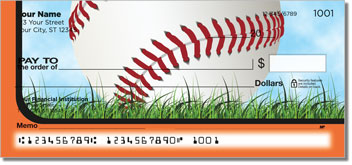 Orange & Black Baseball Fan Checks