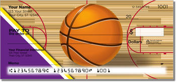 Purple & Gold Basketball Checks