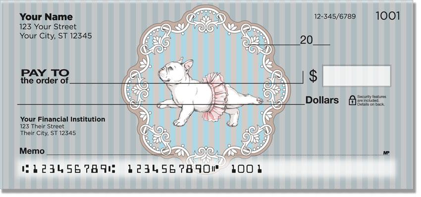 Bulldog Pop Art Personal Checks