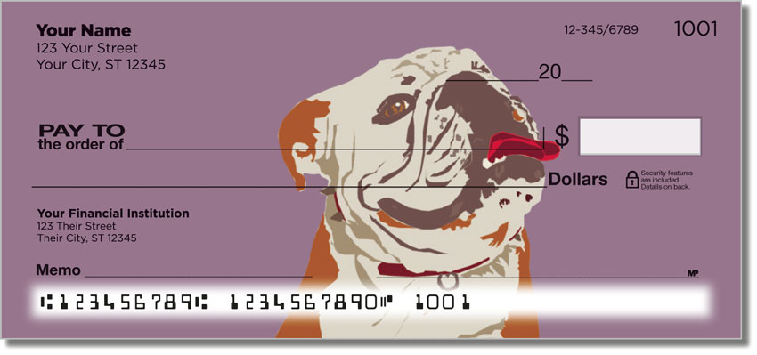 English Bulldogs Pop Art Checks