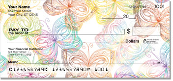 Butterfly Print Checks