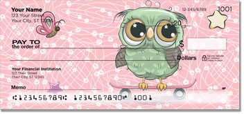 Cartoon Owl Checks