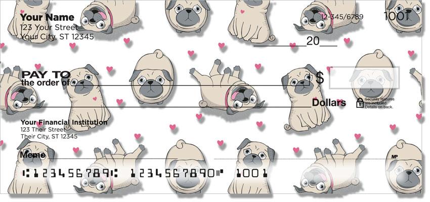 Cartoon Pugs Checks
