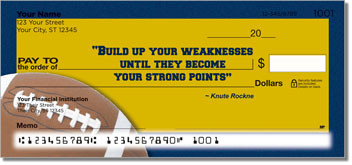 Knute Rockne Checks