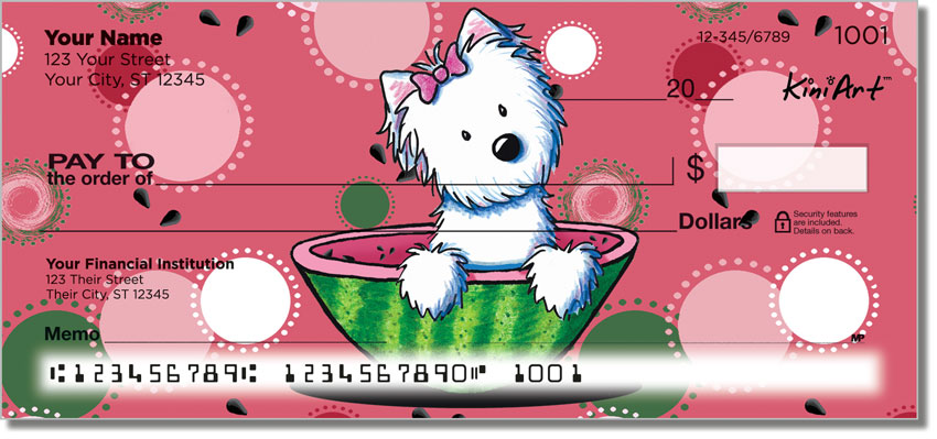 West Highland Terrier Food Series Personal Checks