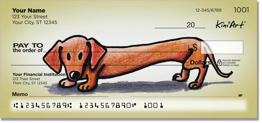 Dachshund Doxie Series Cartoon Checks