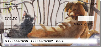 Dog and Cat Painting Checks