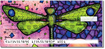 Dragonfly Art Checks