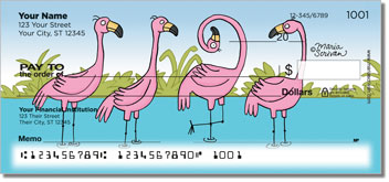 Scrivan Flamingos Checks
