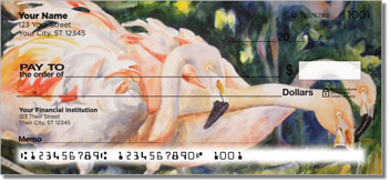 Kay Smith Flamingo Checks