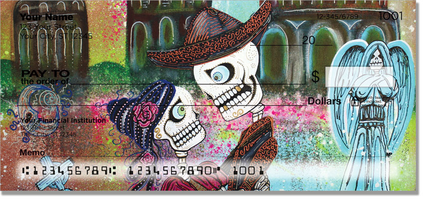 Day Of The Dead Skulls/Skeletons Checks