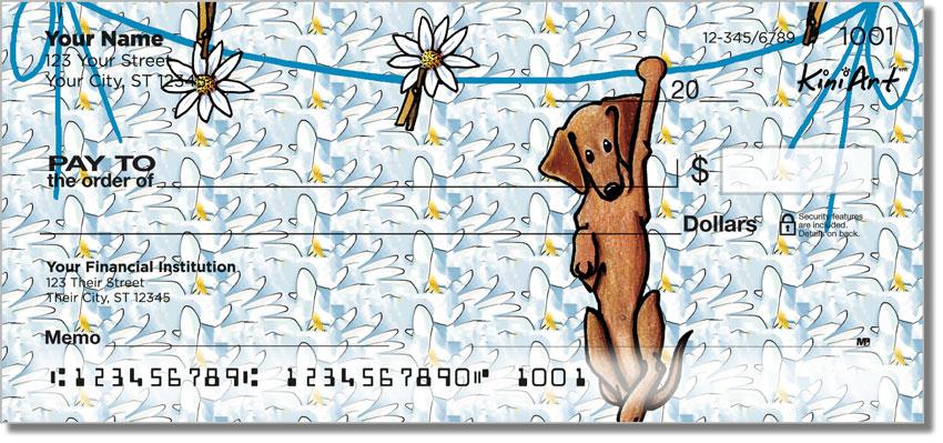 Dachshund Cartoon Series Personal Checks