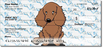 Longhaired Dachshund Cartoon Series Personal Checks