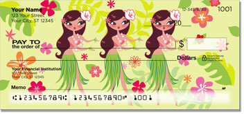 Hula Girl Checks