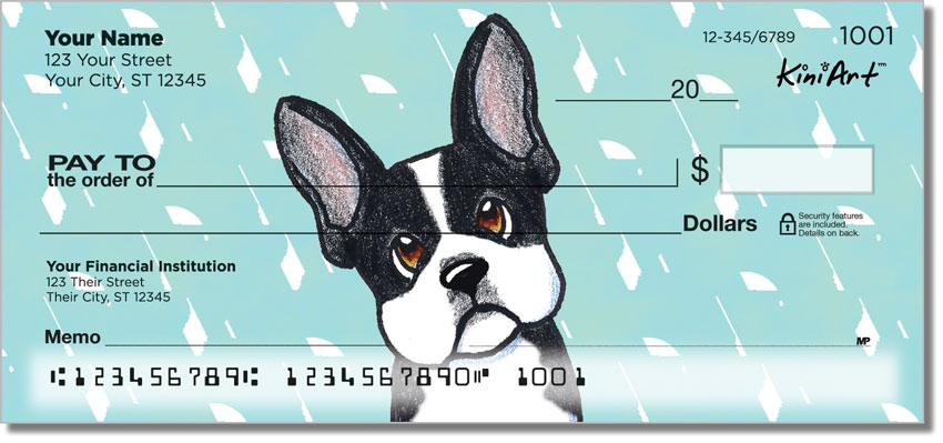 Boston Terrier Art Checks