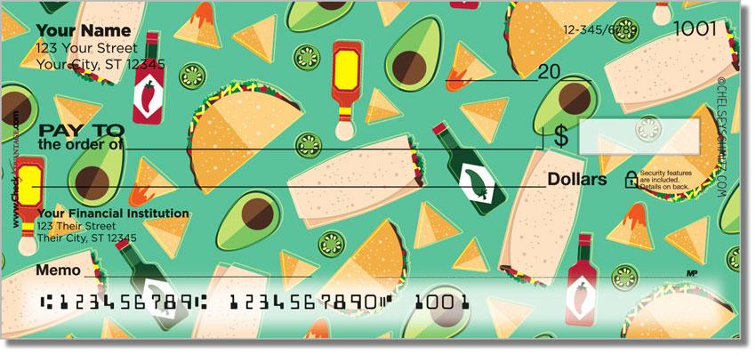 Cute Mexican Foods Checks