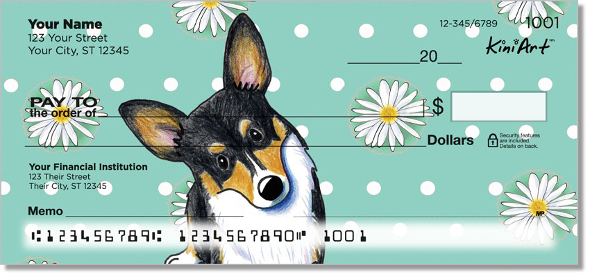 Pembroke Welsh Corgi Art Checks