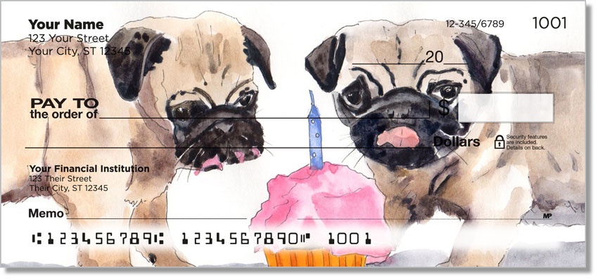 Pug Paintings Checks