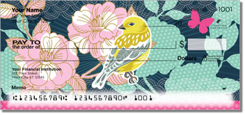 Birds and Blooms Checks