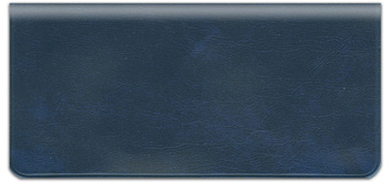 Dark Blue Vinyl Checkbook Cover