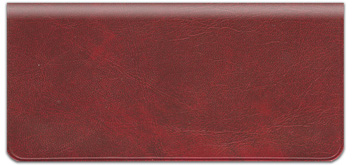 Deep Red Vinyl Checkbook Cover