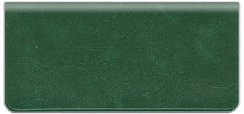 Hunter Green Vinyl Checkbook Cover
