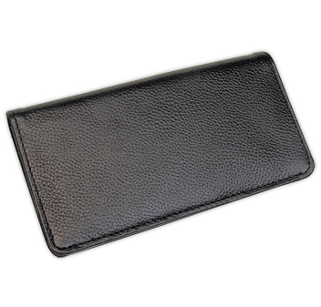 Black Leather Checkbook Cover & Organizer