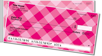 Pink Plaid Side Tear Checks
